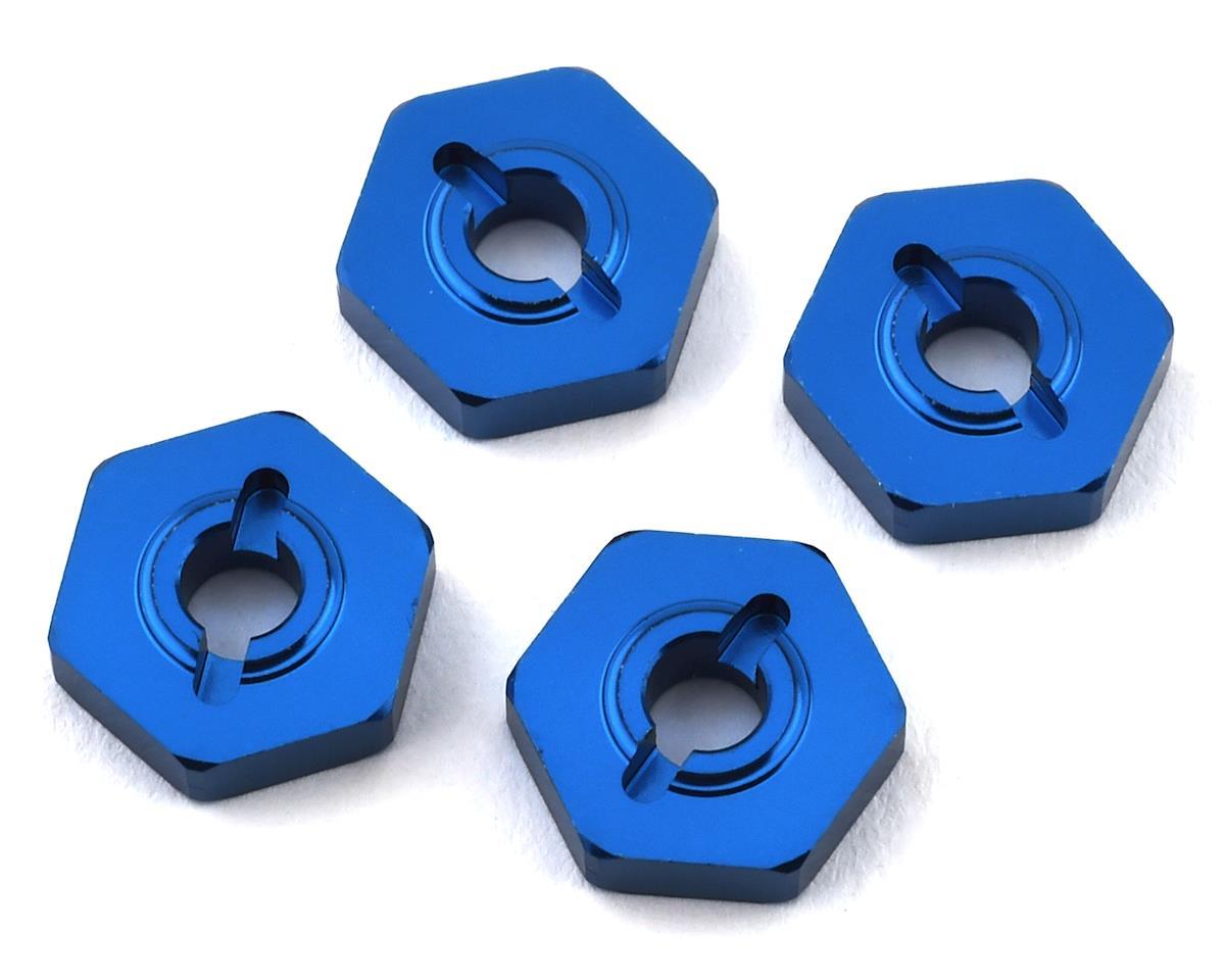 Team Associated Reflex 14B Factory 14B/14T Aluminum Wheel Hexes (Blue) (4)