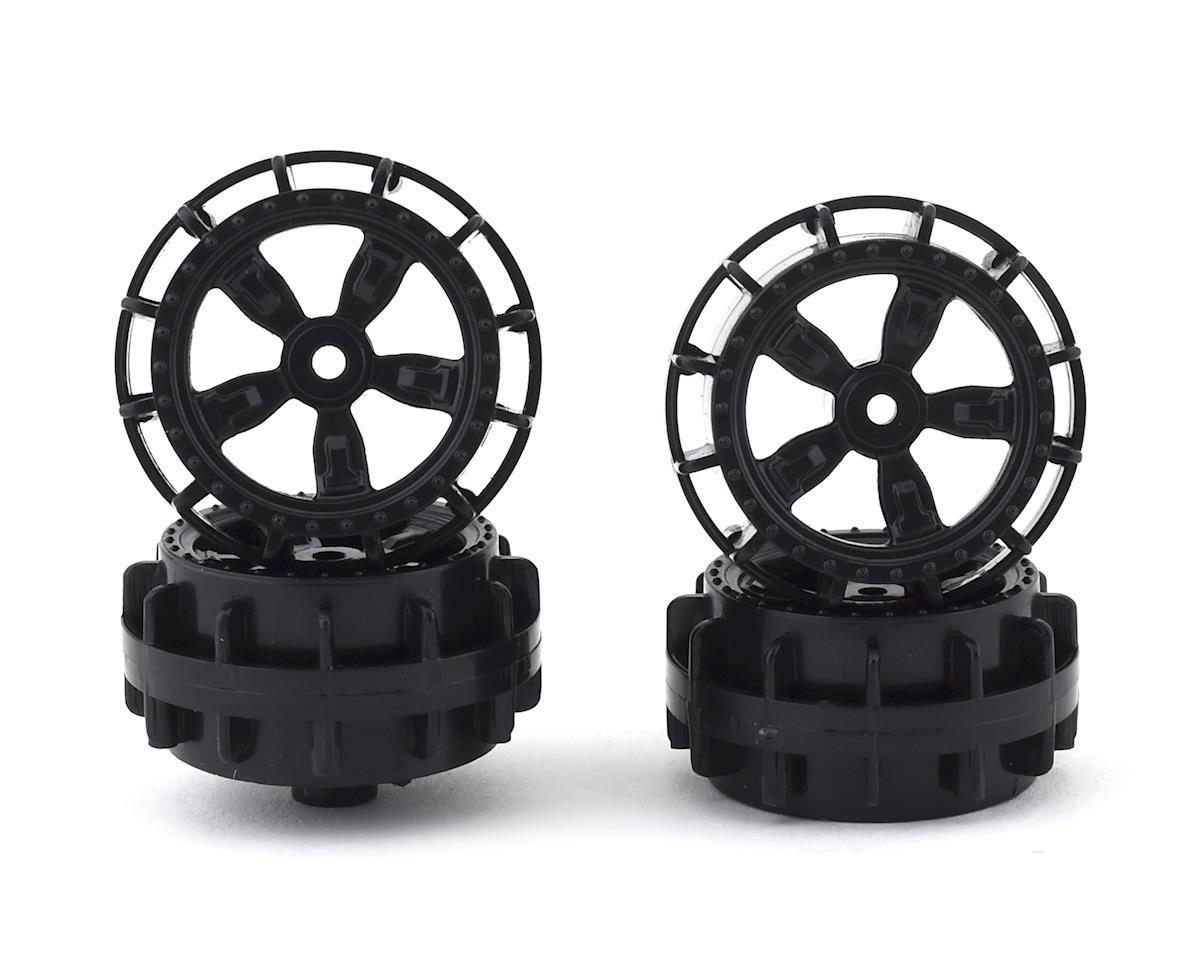 Team Associated NanoSport Wheels (Black) (4)