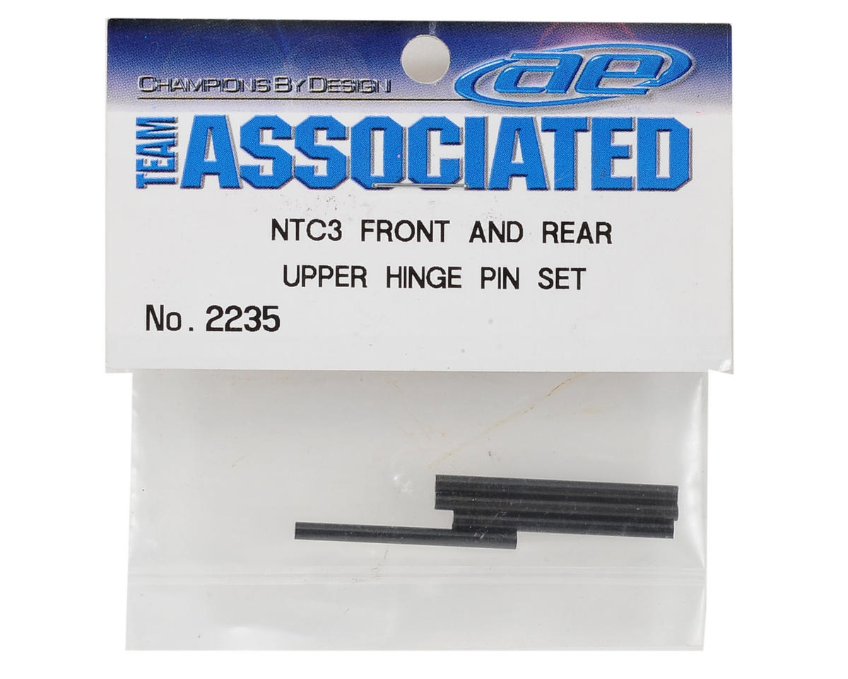 Team Associated Front/Rear Upper Hinge Pin Set (2 Pair) (Nitro TC3)