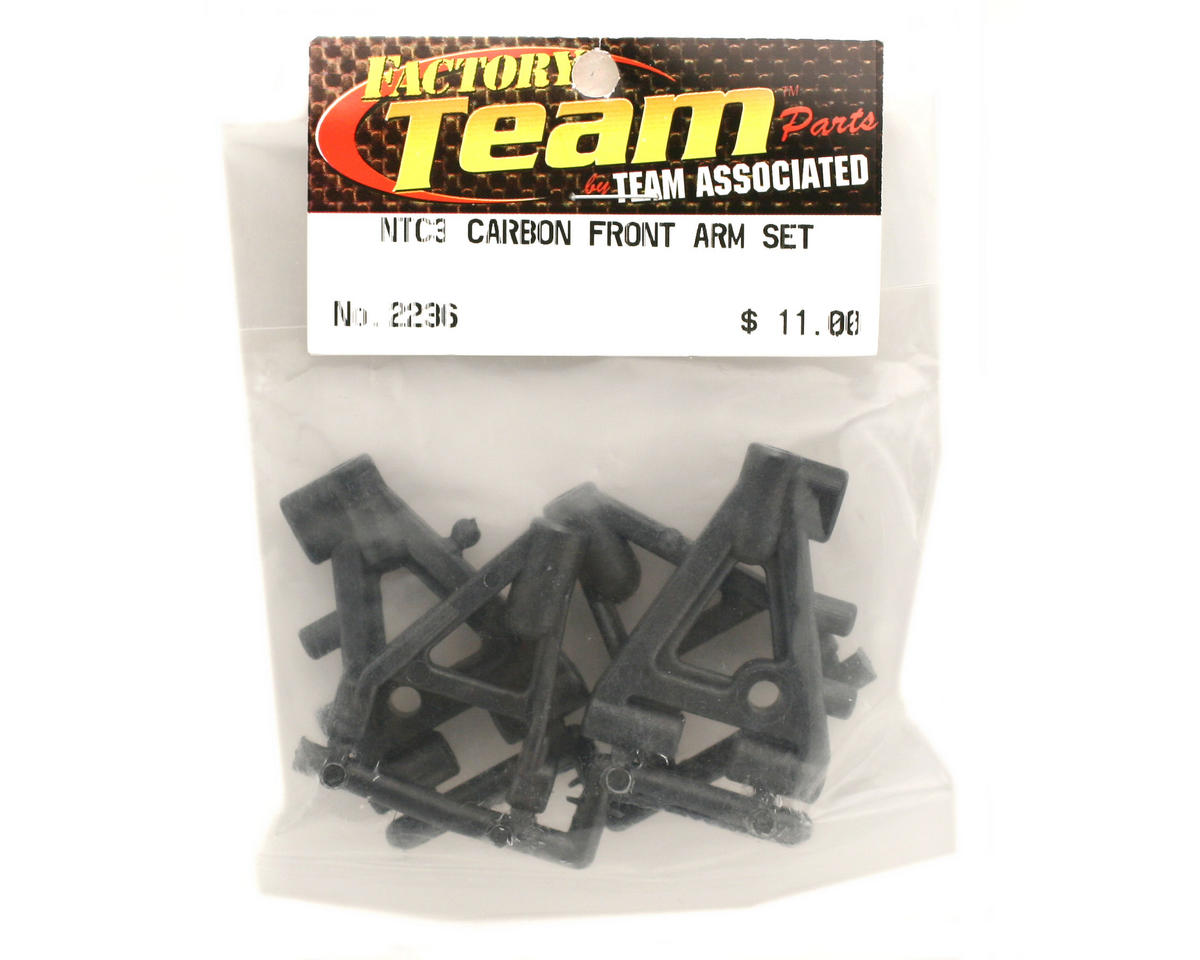 Team Associated Factory Team Carbon Front Arm Set (Nitro TC3)