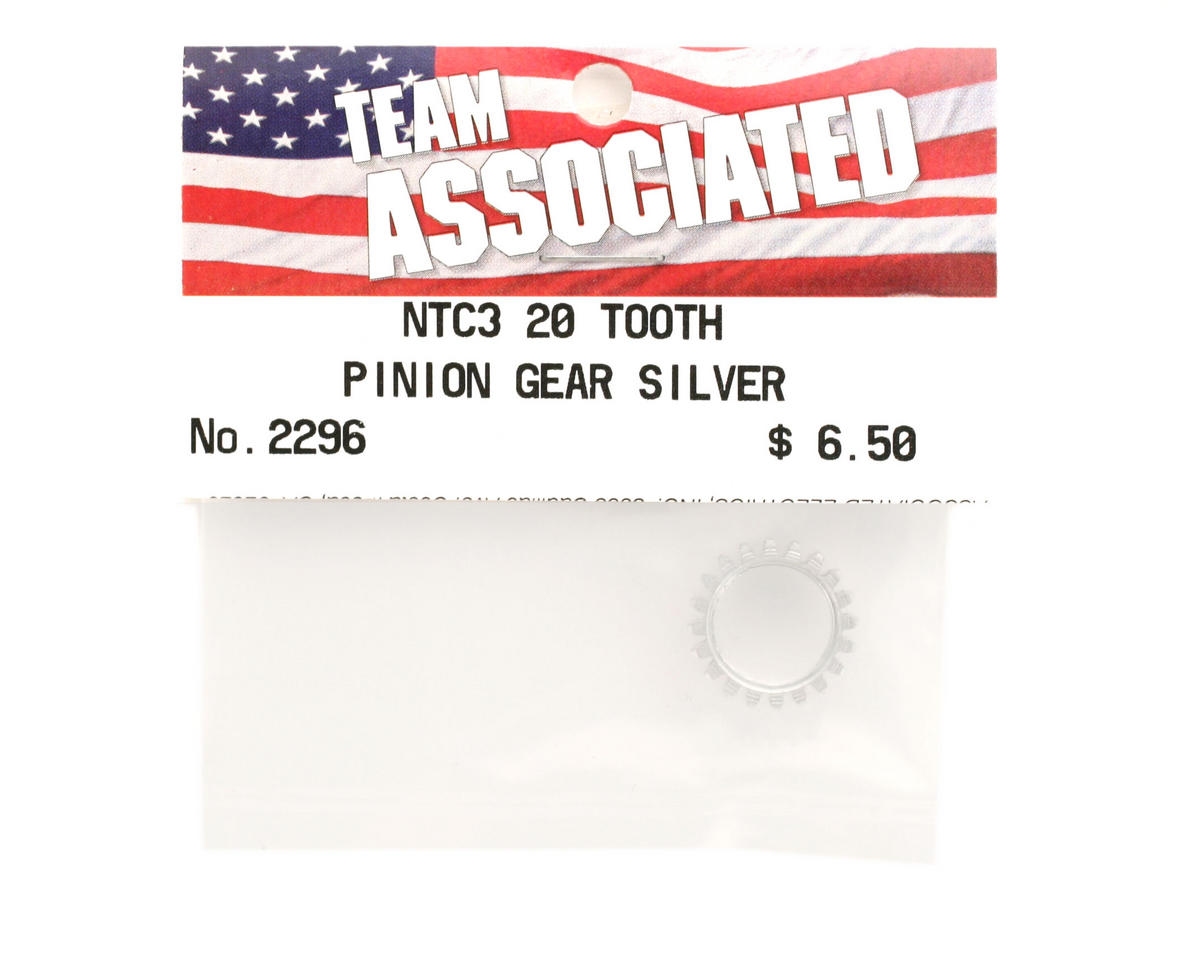 Team Associated Pinion Gear 20T Silver (Nitro TC3)