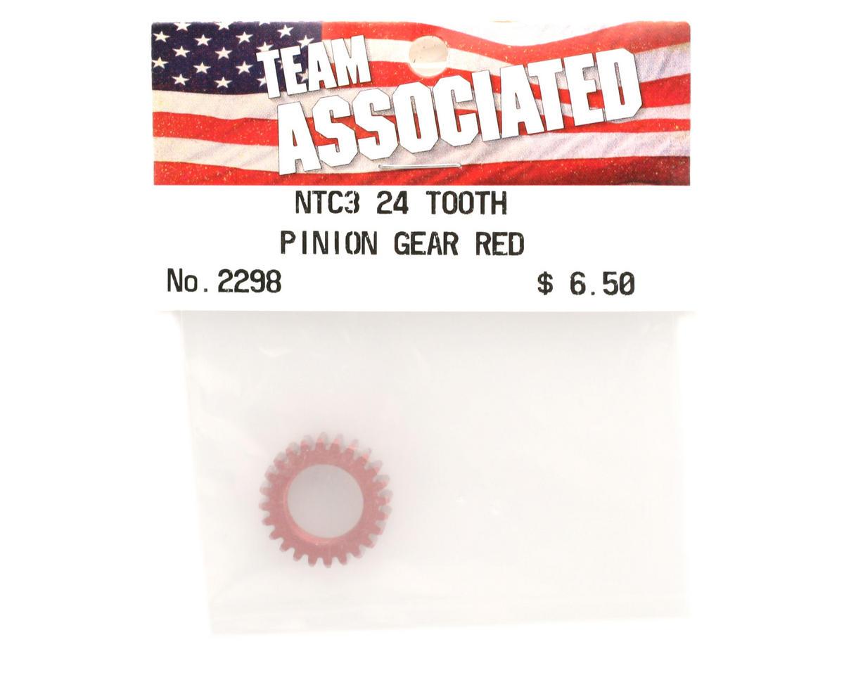 Team Associated Pinion Gear 24T Red (Nitro TC3)