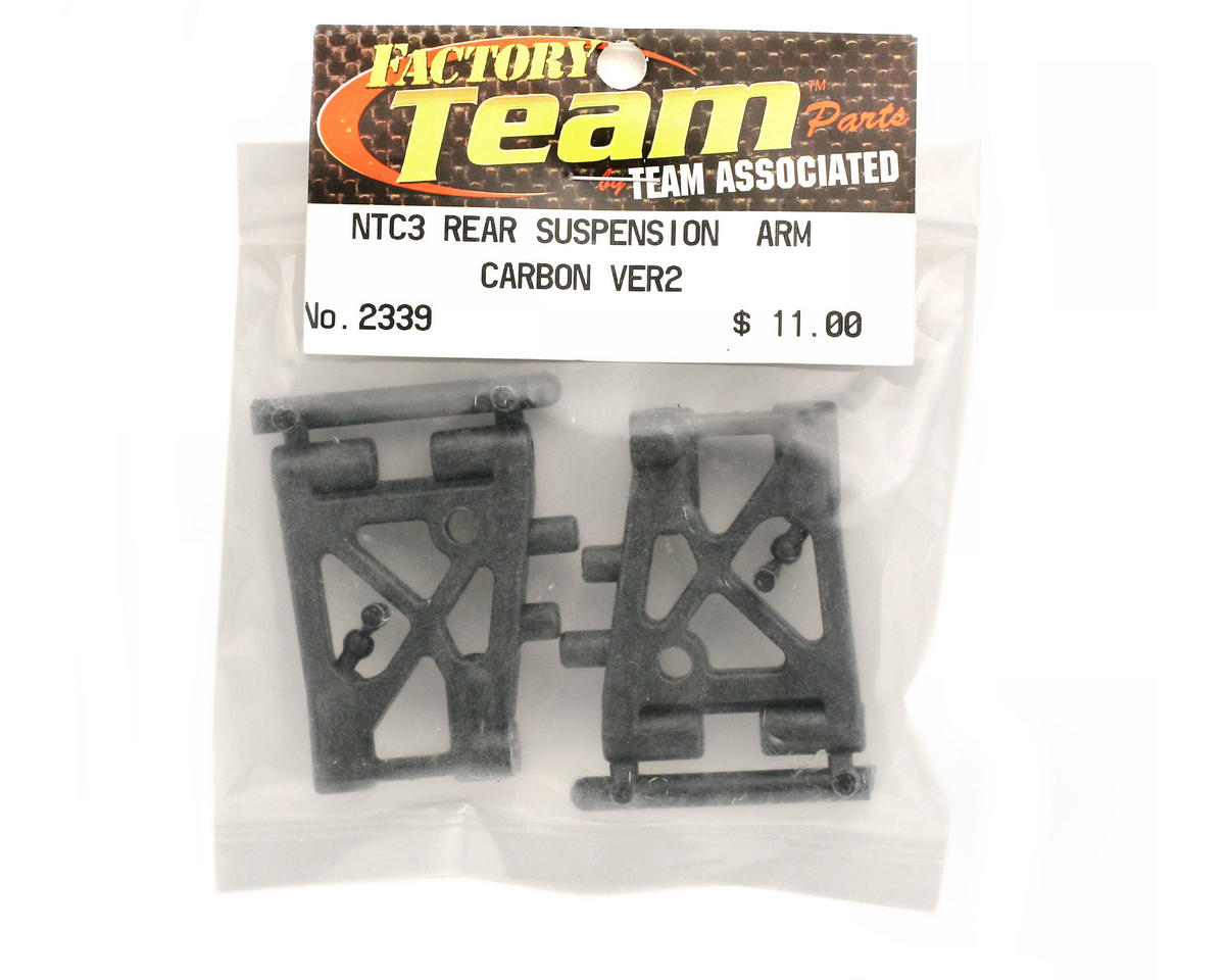 Team Associated Rear Suspension Arms Carbon Version 2 (Nitro TC3)