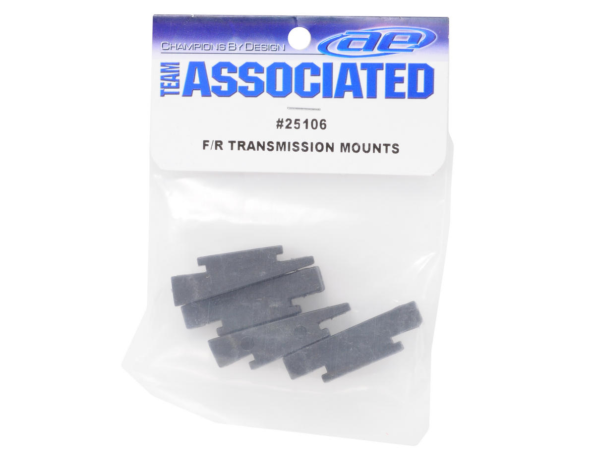 Team Associated Front & Rear Transmission Chassis Mount Set
