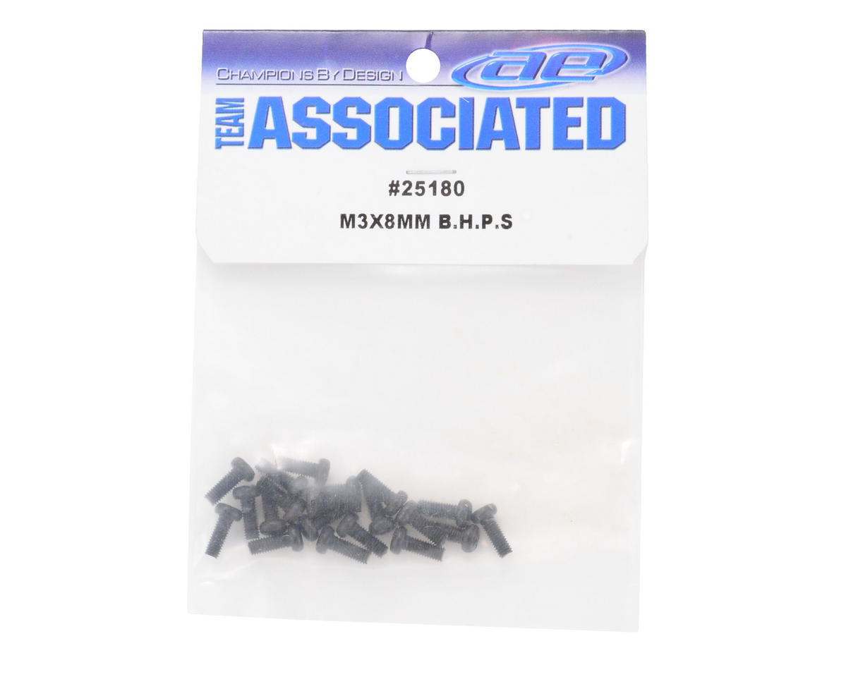 Team Associated 3x8mm Button Head Phillips Screw (20)