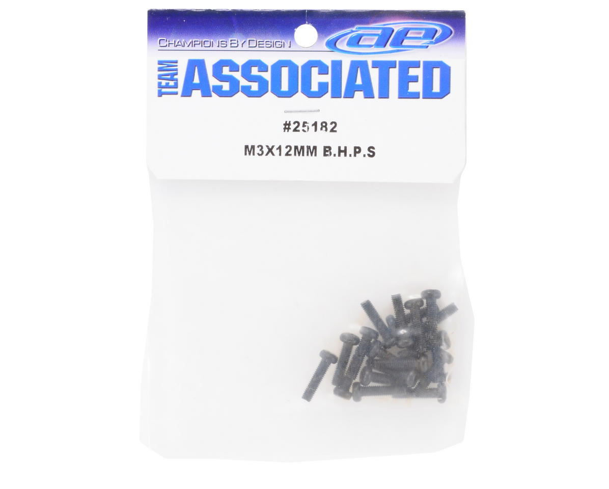 Team Associated 3x12mm Button Head Phillips Screw (20)