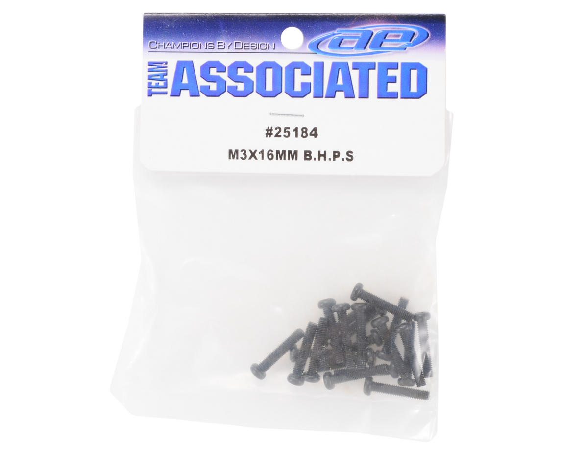 Team Associated 3x16mm Button Head Phillips Screw (20)