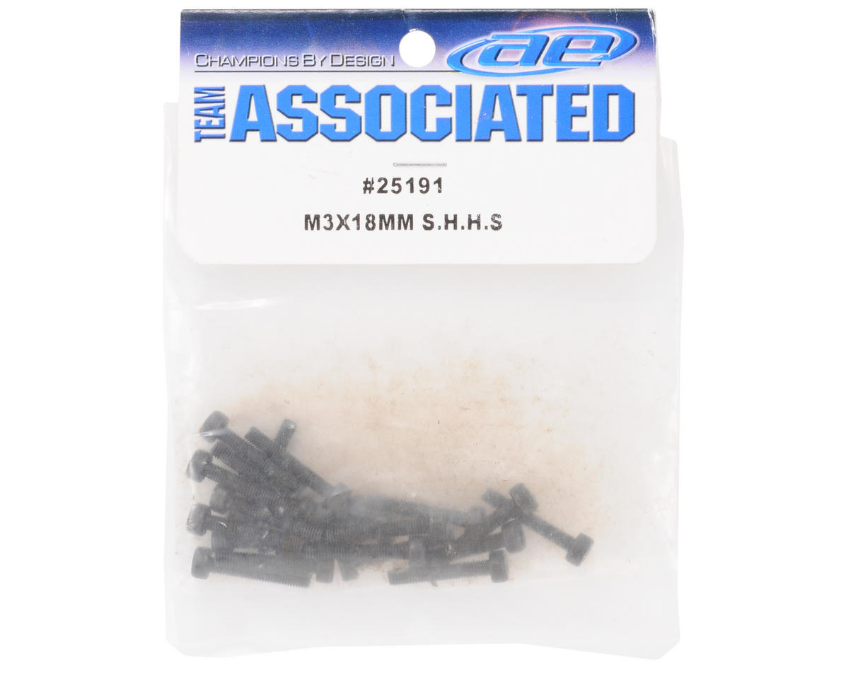 Team Associated 3x18mm Cap Screw (20)