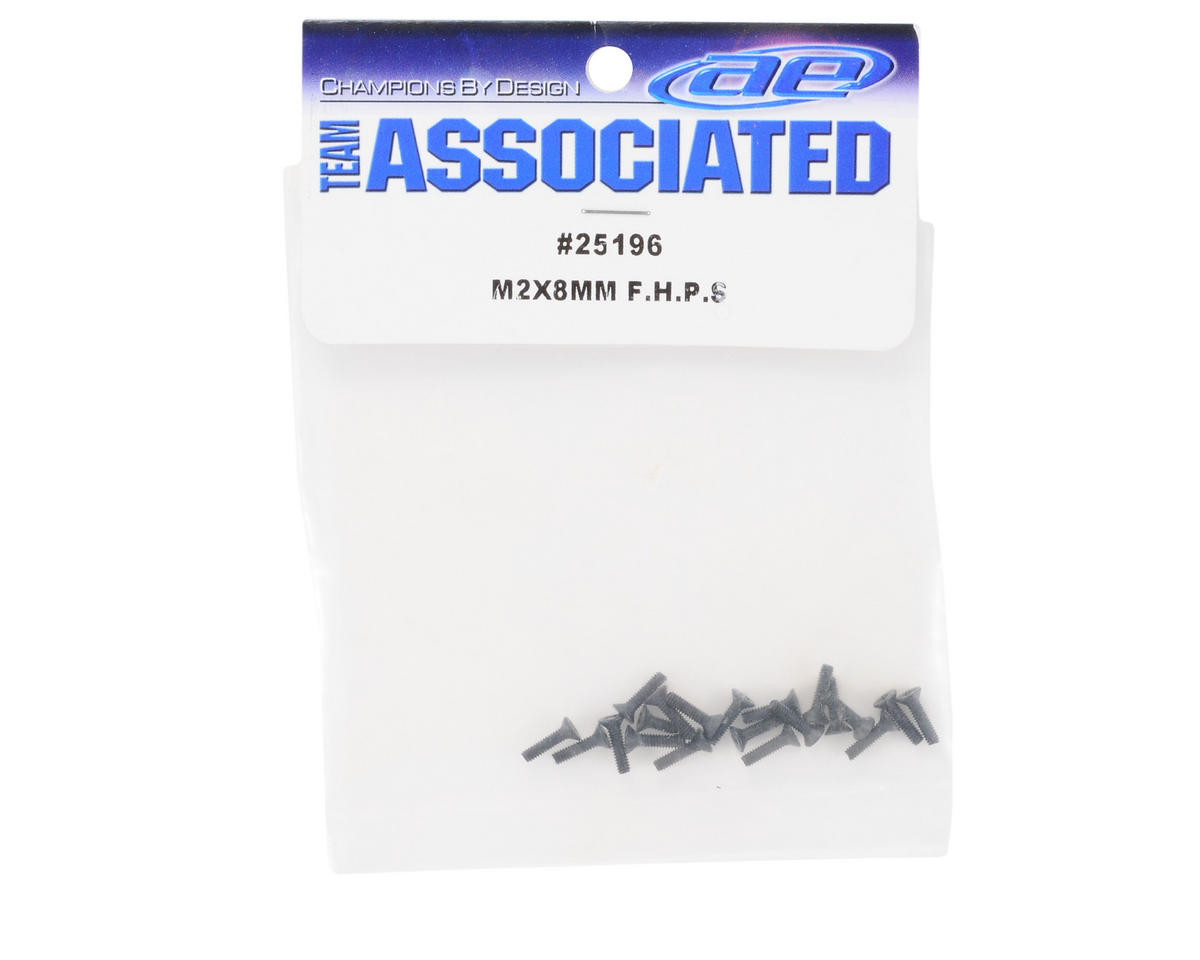 Team Associated 2x8mm Flat Head Phillips Screw (20)