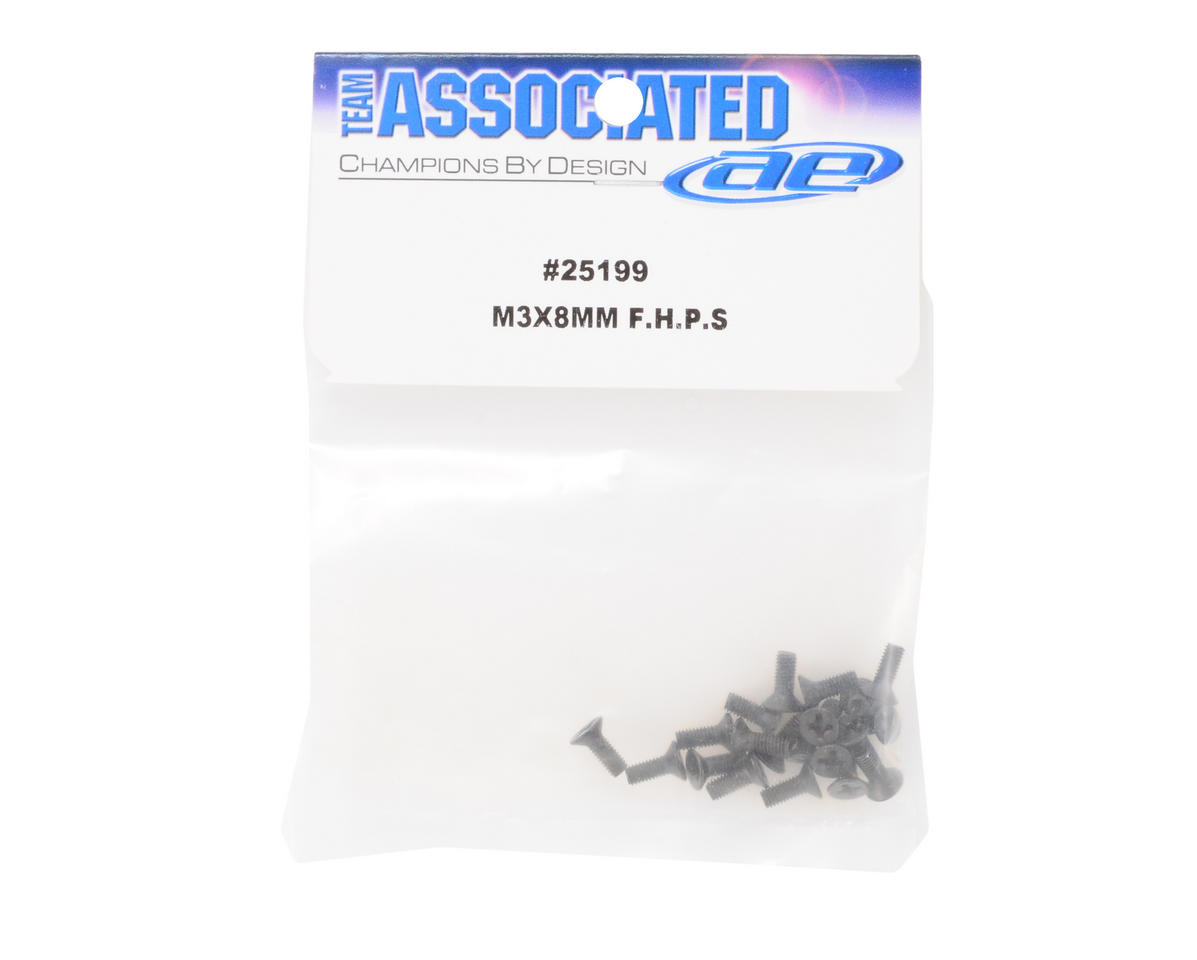 Team Associated 3x8mm Flat Head Phillips Screw (20)