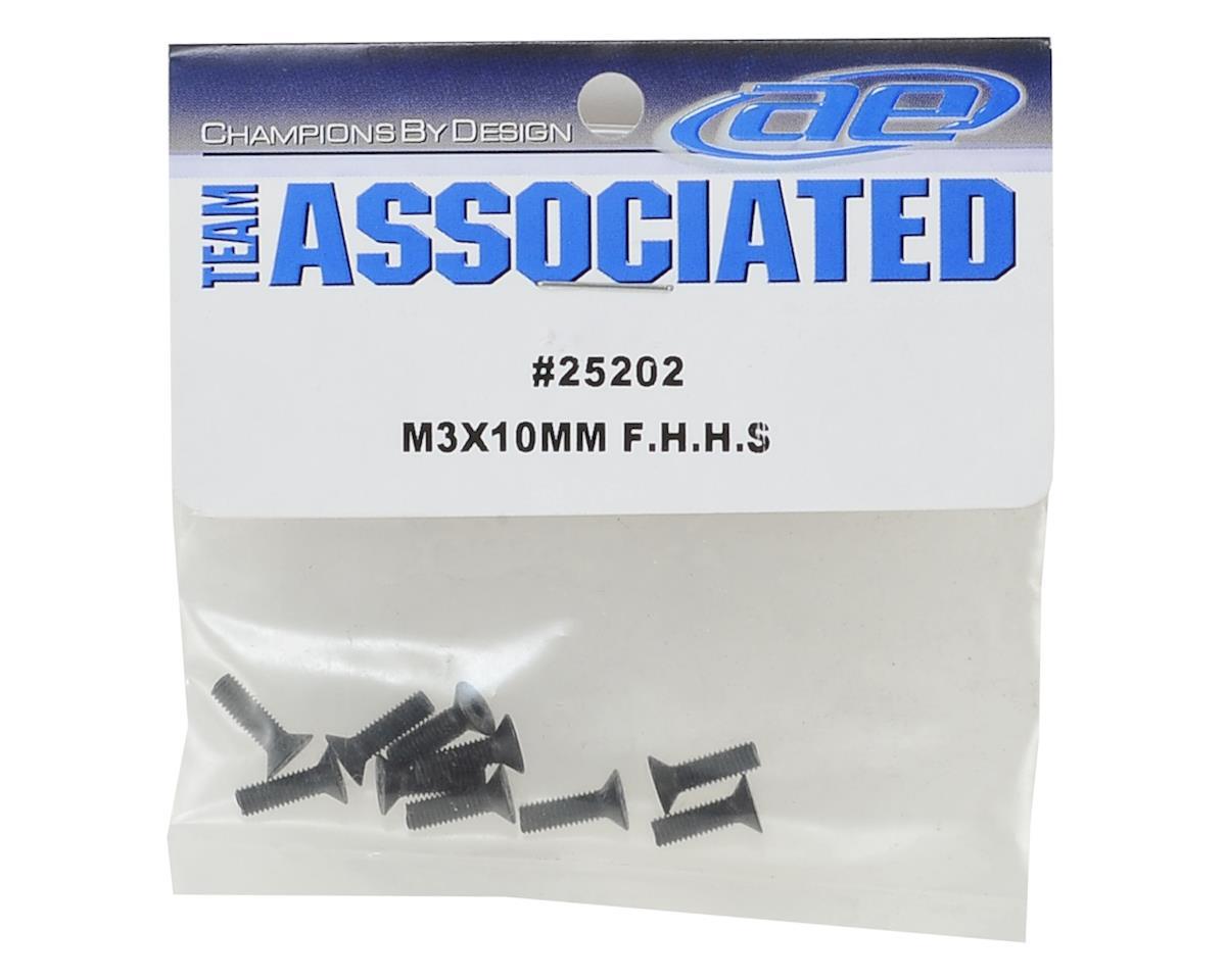 Team Associated 25202 M3 x 10mm Flat Head Hex Screw
