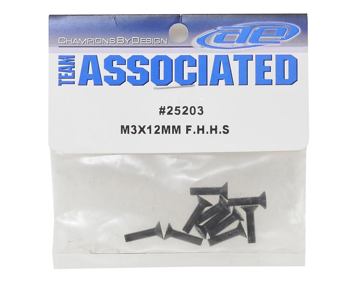Team Associated 3x12mm Flat Head Hex Screw (20)