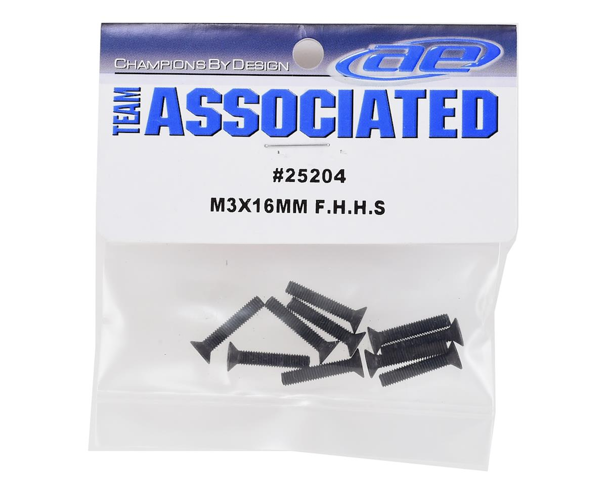 Team Associated 3x16mm Flat Head Hex Screw (10)