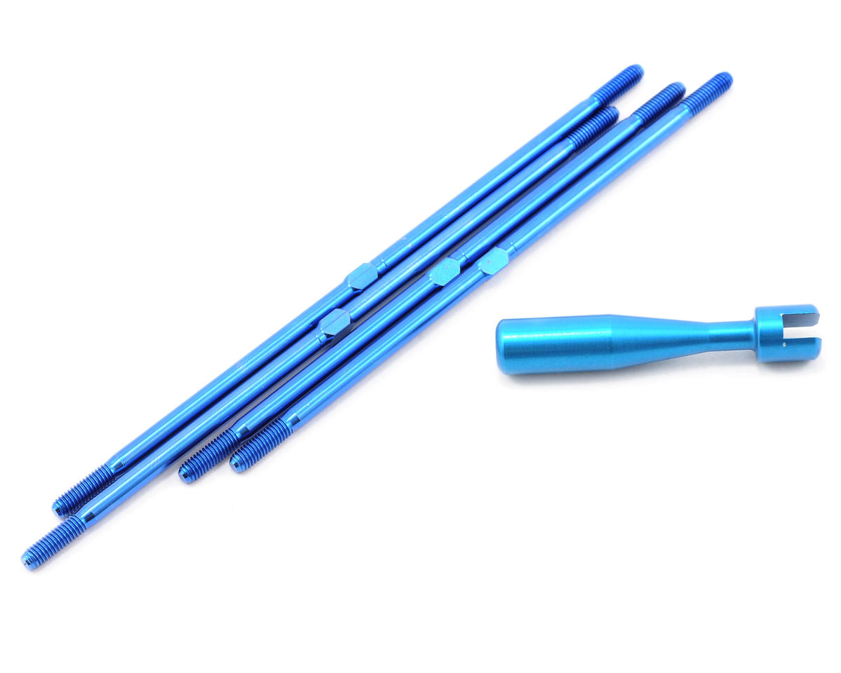 Team Associated Factory Team Titanium Turnbuckle Set (Blue) (4) (MGT)
