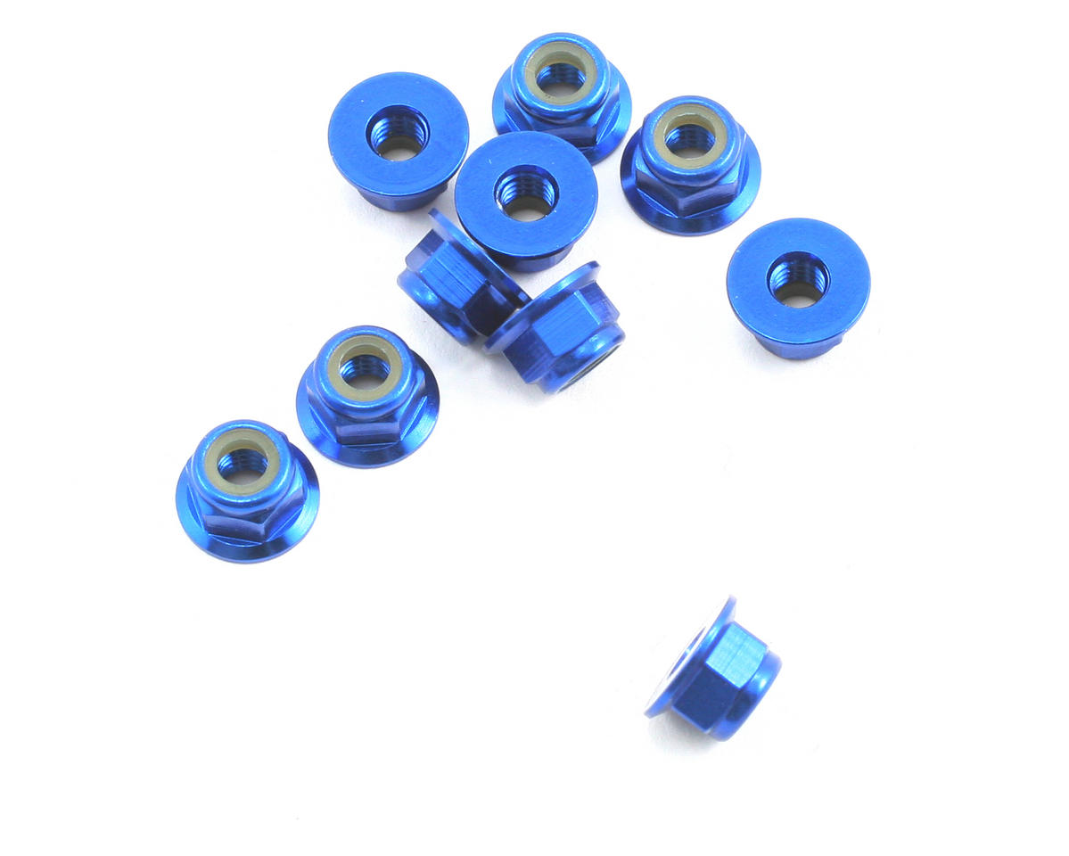 Team Associated Factory Team 4mm Locknut (Blue) (10)