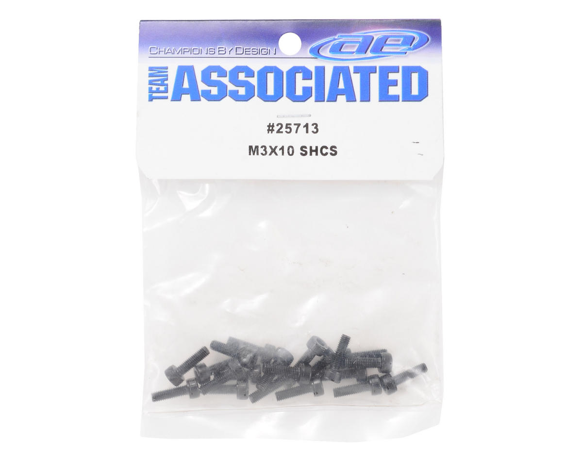 Team Associated 3x10mm Cap Head Screw (20) (MGT 8.0)