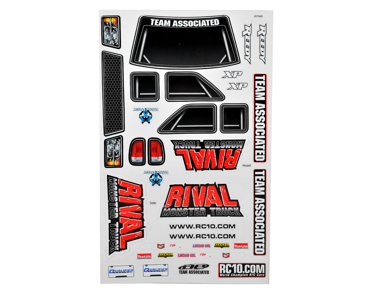 Team Associated Rival Decal Sheet