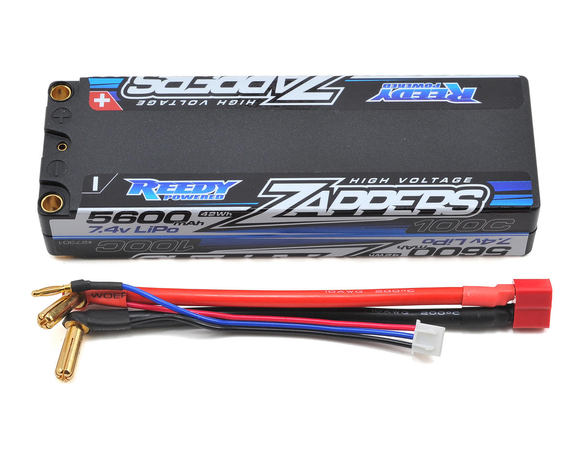 Reedy Zappers 2S Hard Case LiPo 100C Competition Battery Pack (7.4V/5600mAh)
