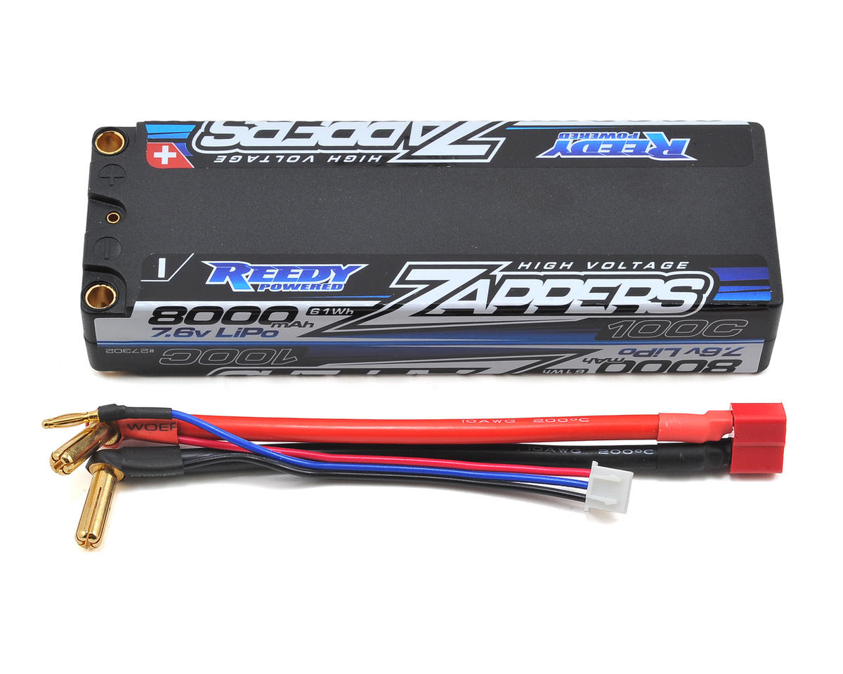 Reedy Zappers HV 2S Hard Case LiPo 100C Competition Battery Pack (7.6V/8000mAh)