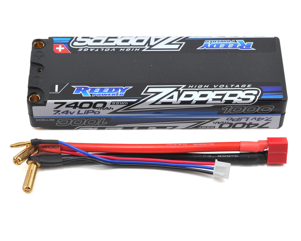 Zappers 2S Hard Case LiPo 100C Competition Battery Pack (7.4V/7400mAh) by Reedy
