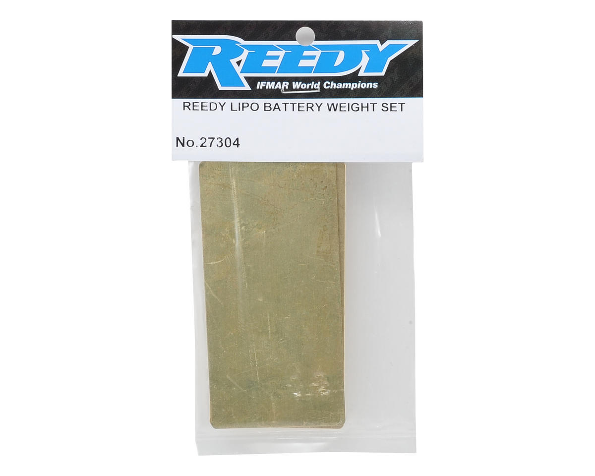 Reedy LiPo Battery Brass Weight Plate Set (1x 22g & 1x 36g)