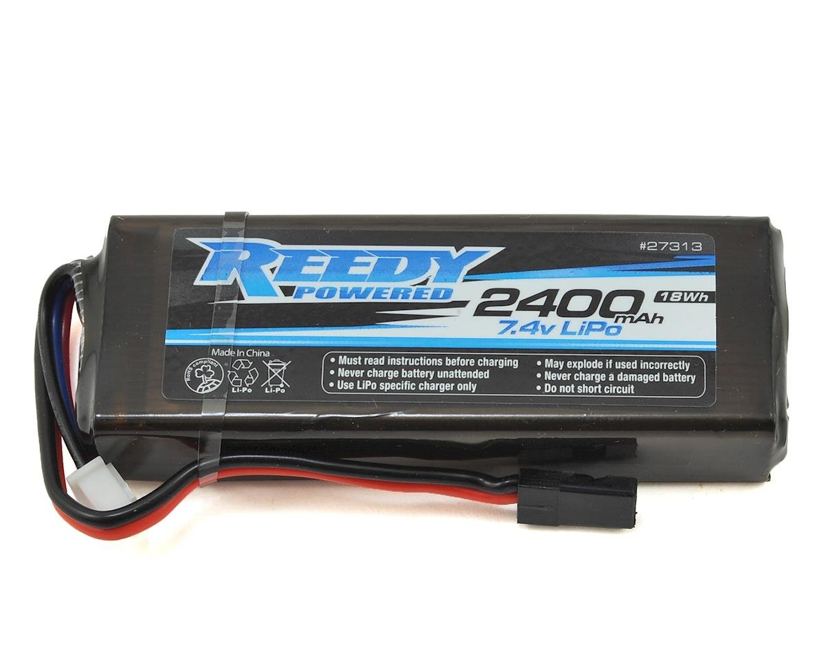 2S Flat LiPo Receiver Battery Pack (7.4V/2400mAh) by Reedy
