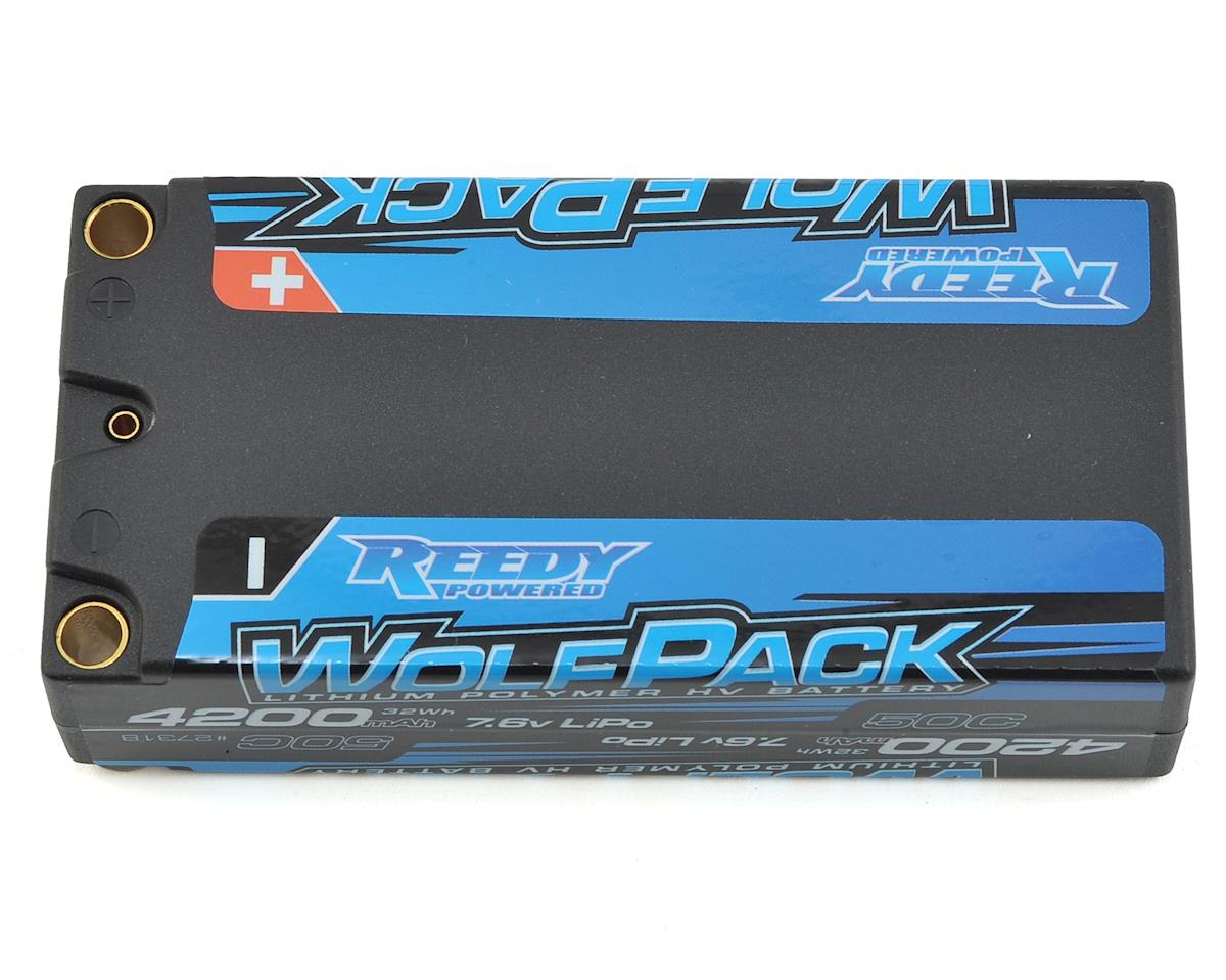 Reedy WolfPack HV 2S Hard Case LiPo 50C Shorty Battery Pack (7.6V/4200mAh)