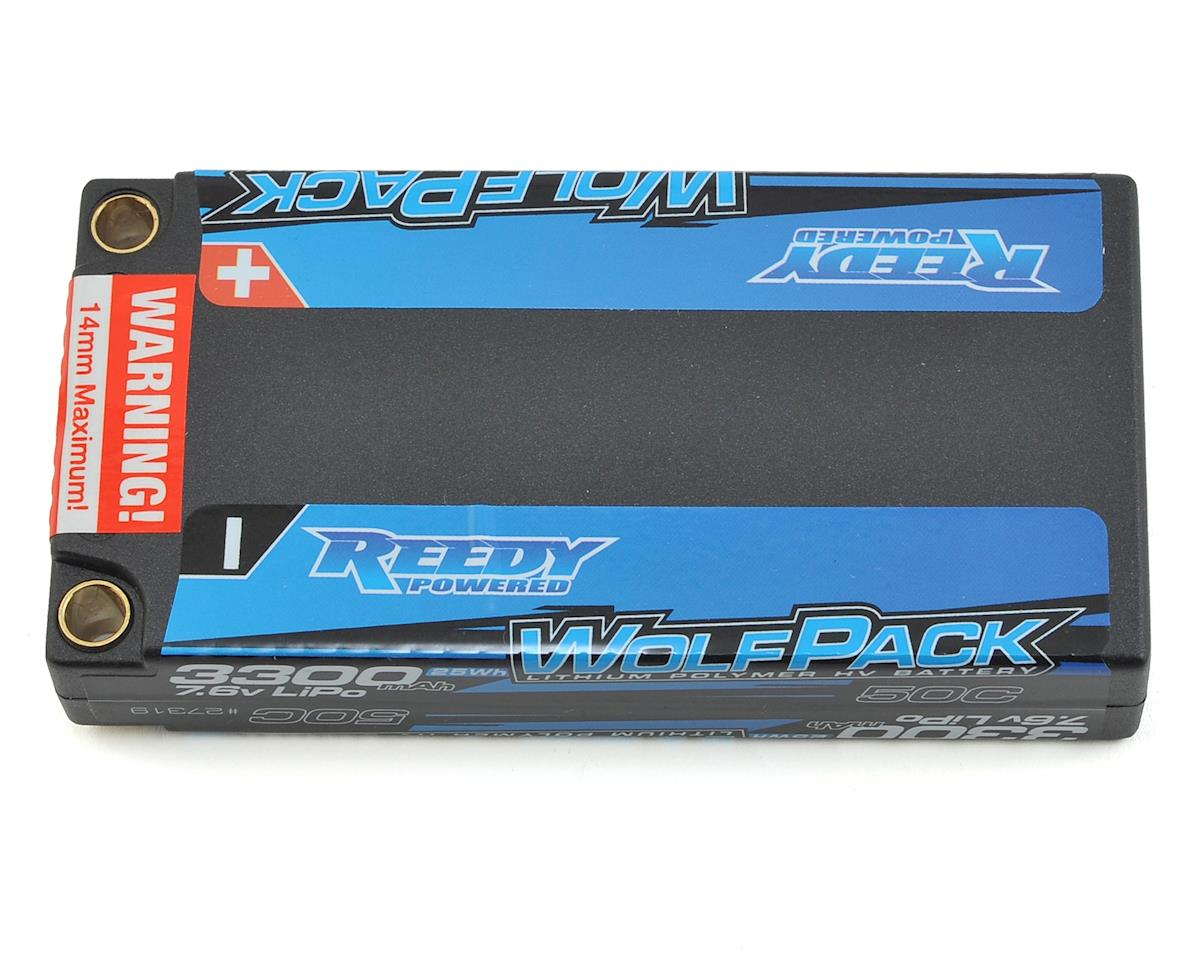 WolfPack HV 2S Hard Case LiPo 50C Shorty Battery Pack (7.6V/3300mAh)