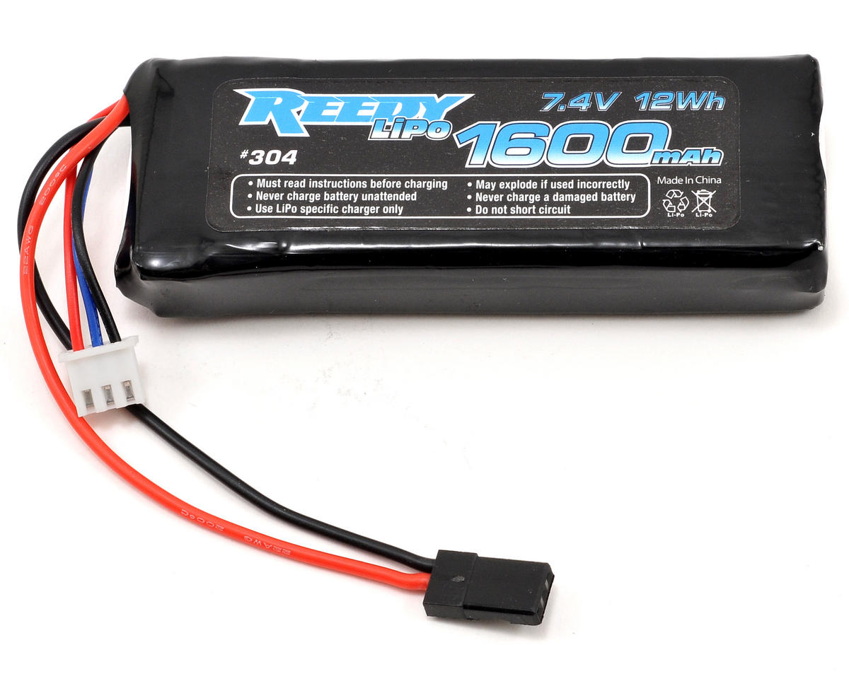 2S LiPo Flat Receiver Battery Pack (7.4V/1600mAh) (w/Balancer Plug) by Reedy