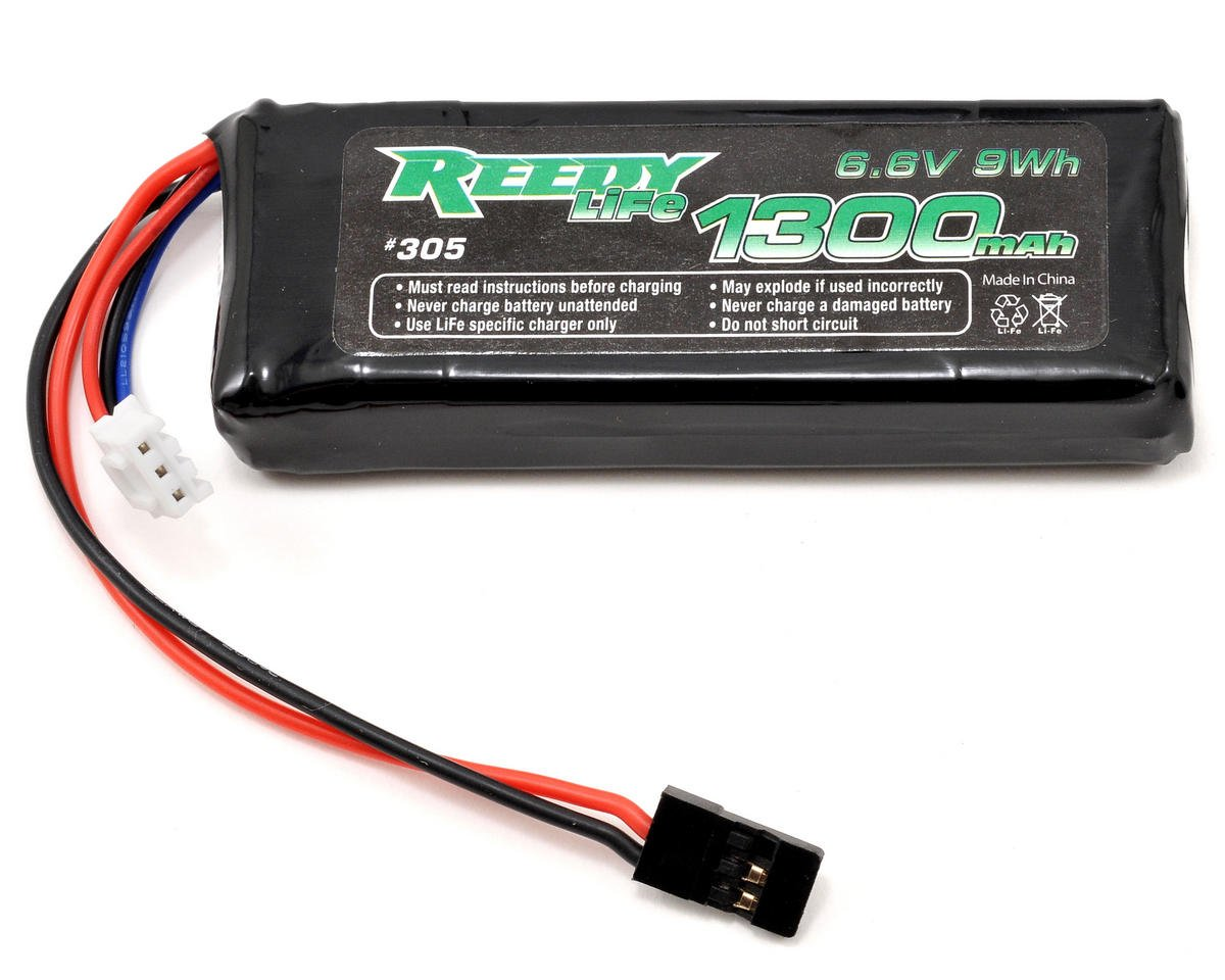 LiFe Flat Receiver Battery Pack (6.6V/1300mAh)