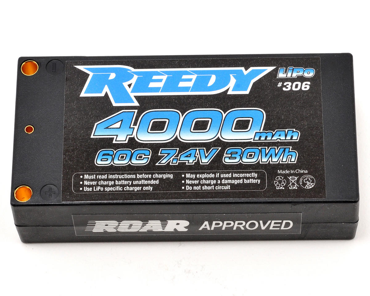 Reedy 2S Hard Case Li-Poly Shorty Battery Pack 60C (7.4V/4000mAh)