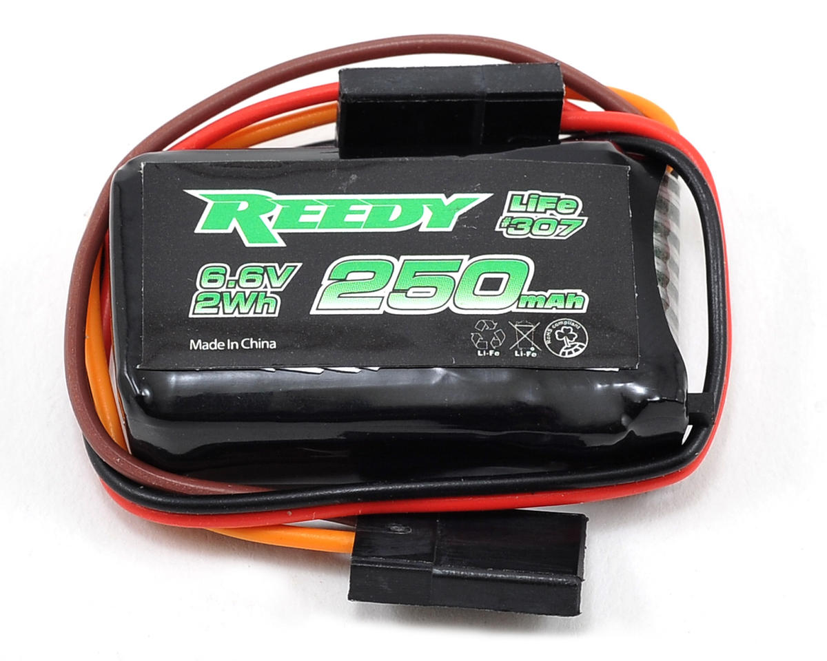 LiFe Receiver Battery Pack (6.6V/250mAh) (1/12 & 1/10 Pan) by Reedy