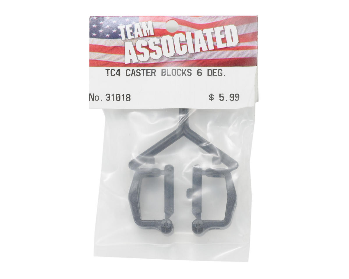 Team Associated Caster Block Set (6° Degree)