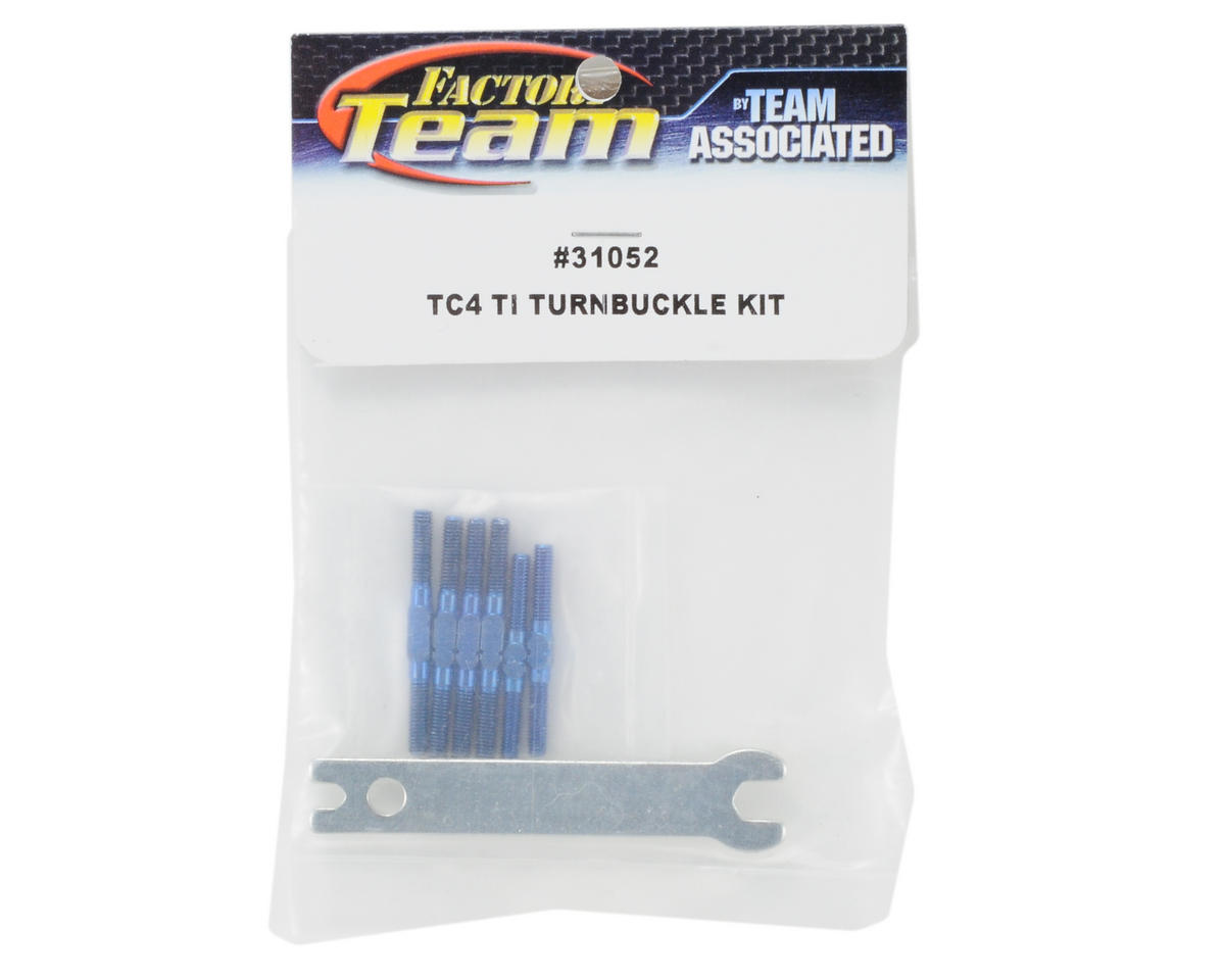 Team Associated Factory Team Titanium Turnbuckle Kit w/Wrench