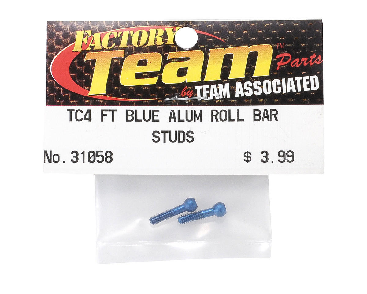 Team Associated Factory Team Roll Bar Ballstud (Blue) (2)