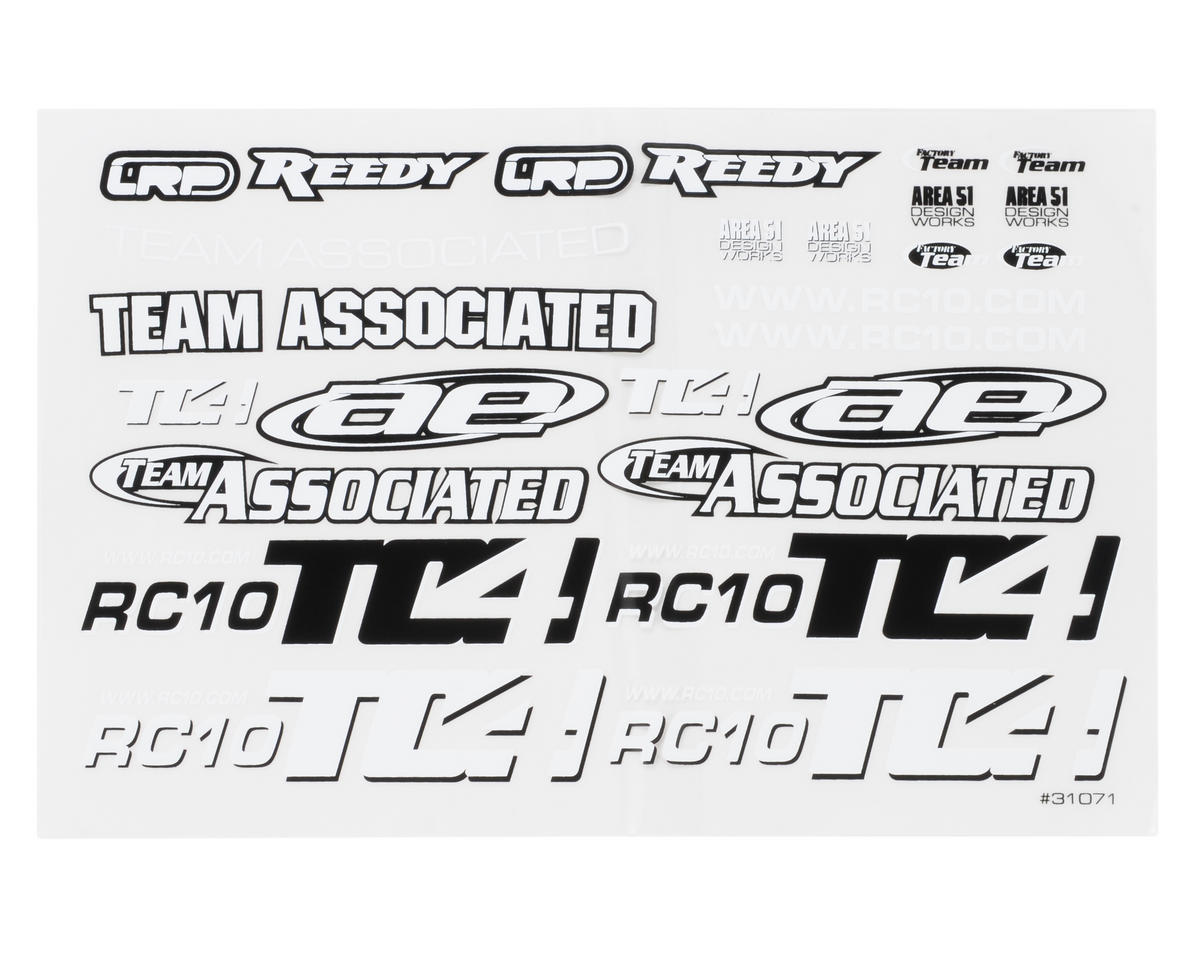 Team Associated TC4 Decal Sheet