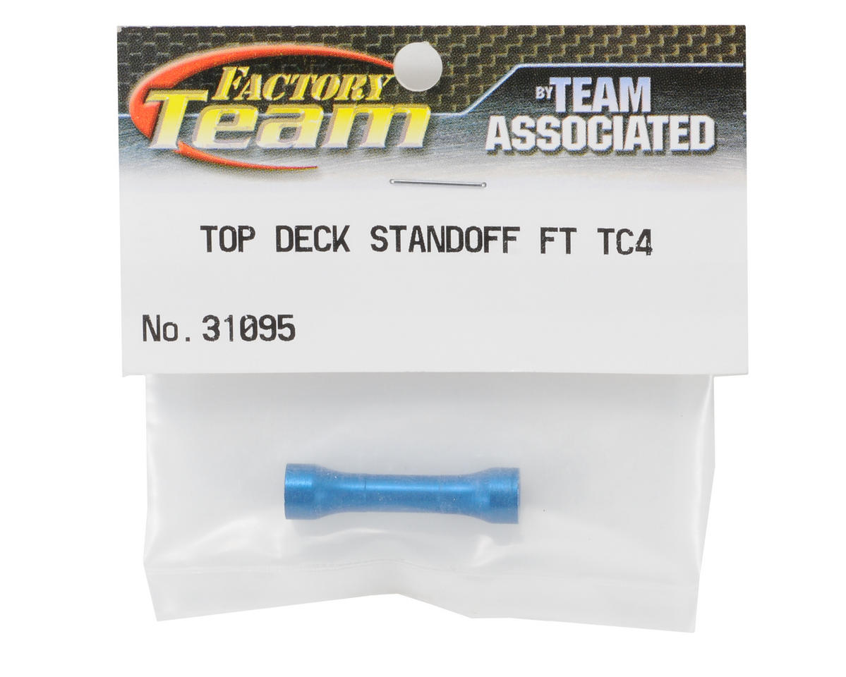 Team Associated Factory Team TC4 Blue Aluminum Top Deck Standoff
