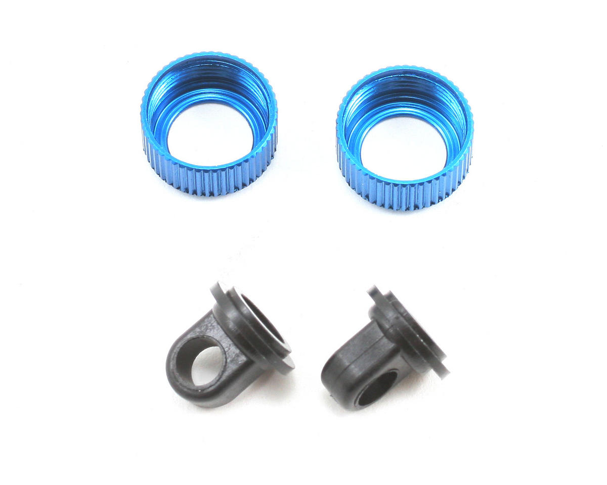 Team Associated TC4 Factory VCS2 Shock Cap & Retainer Set