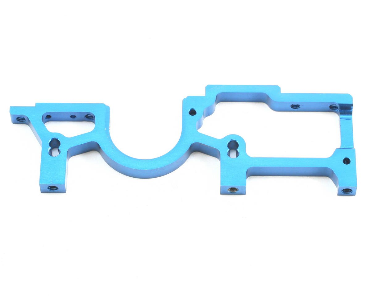 Team Associated Factory Team Aluminum Right Front Bulkhead (Blue)