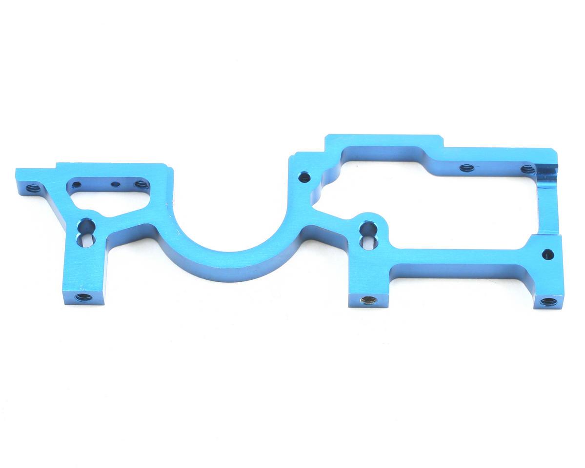 Team Associated TC5 Factory Aluminum Right Front Bulkhead (Blue)