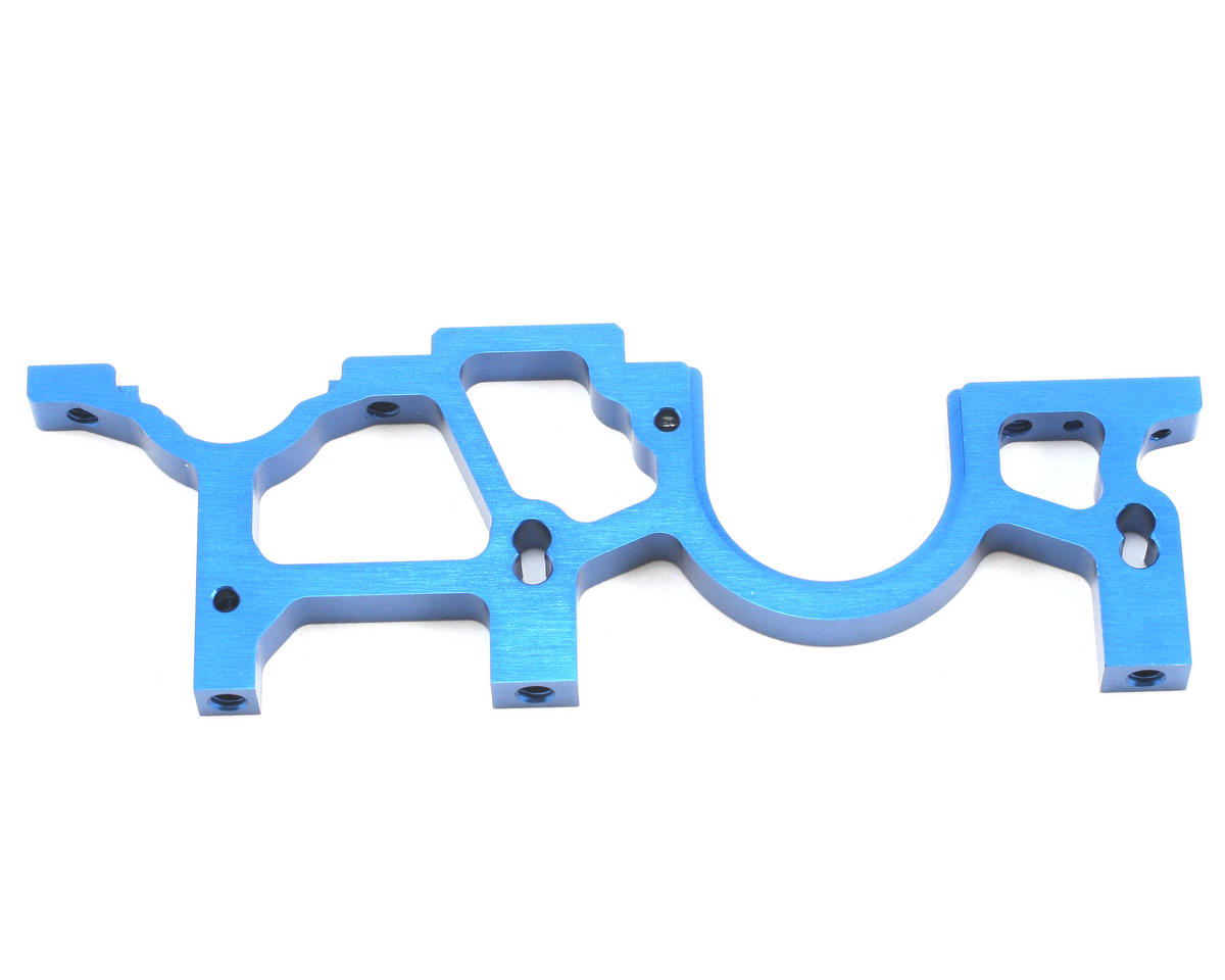 Team Associated Factory Team Aluminum Right Rear Bulkhead (Blue)