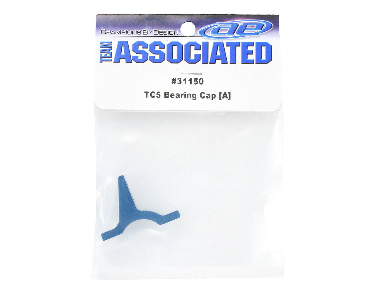 "Team Associated Factory Team Aluminum Bearing Cap ""A"" (Blue)"