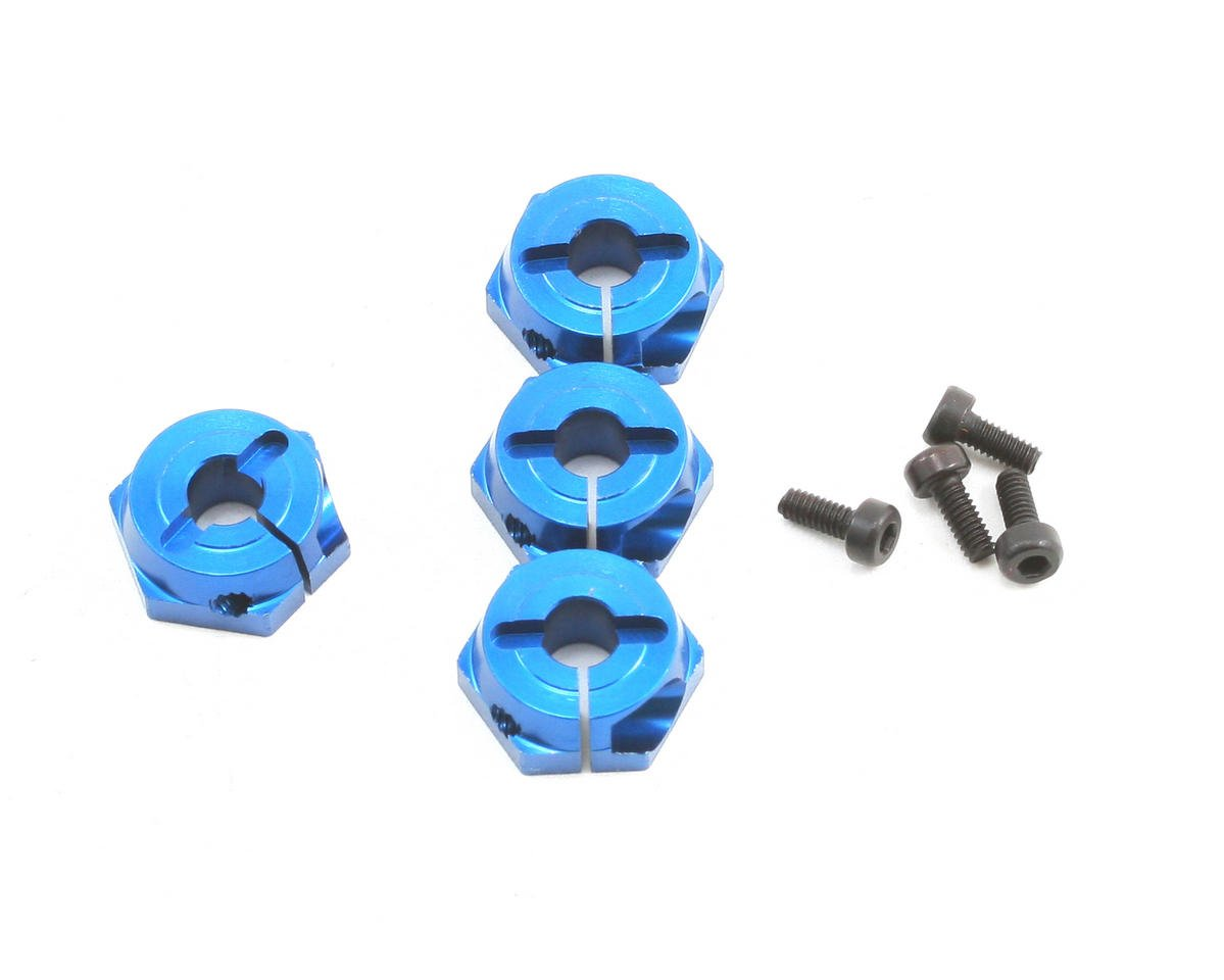 Team Associated TC6 Factory Clamping Wheel Hex (Blue) (4)