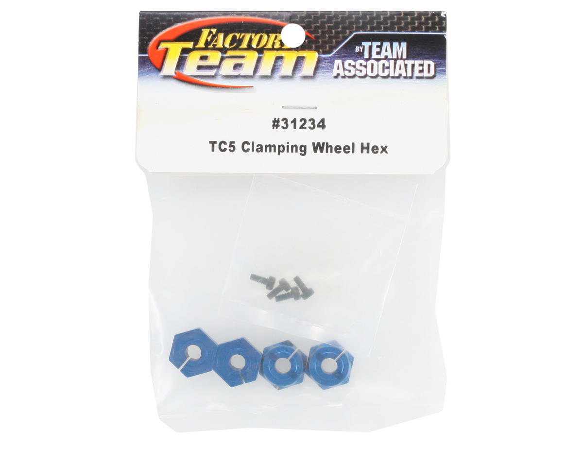 Team Associated Factory Team Clamping Wheel Hex (Blue) (4)