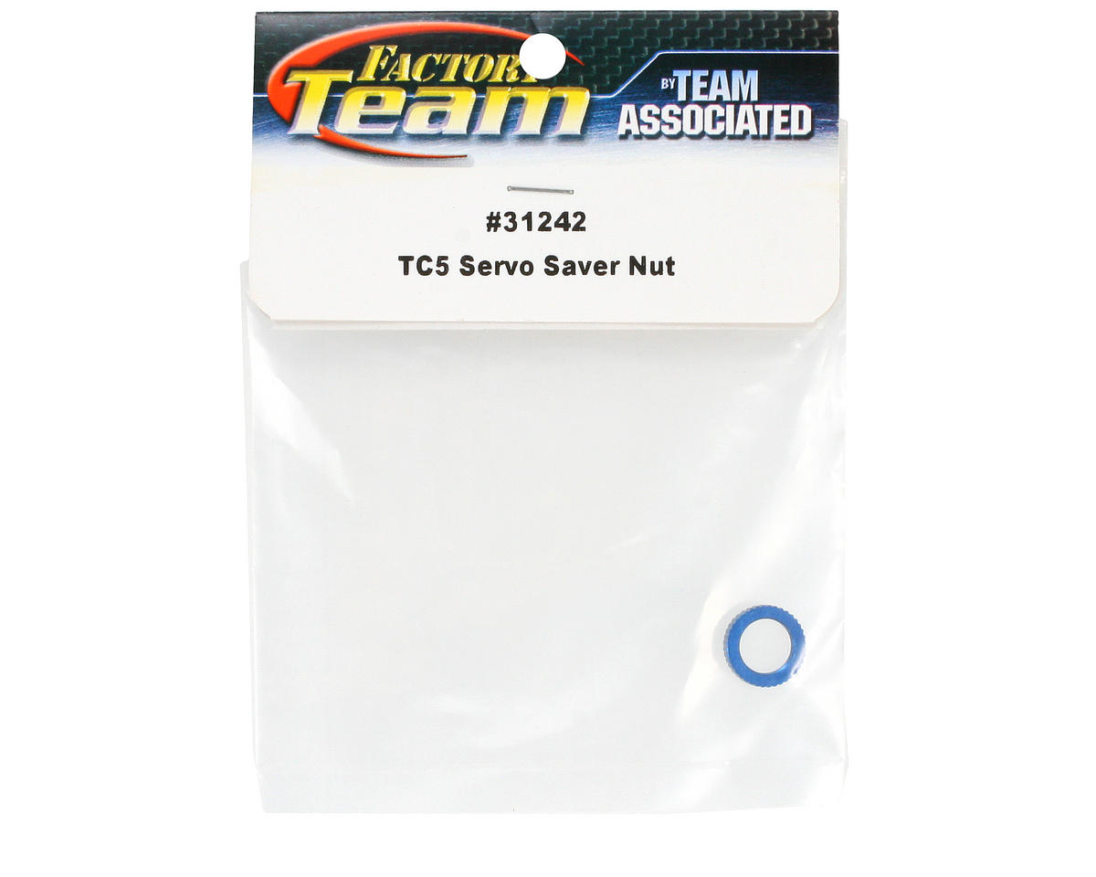 Team Associated Factory Team Servo Saver Nut (Blue)