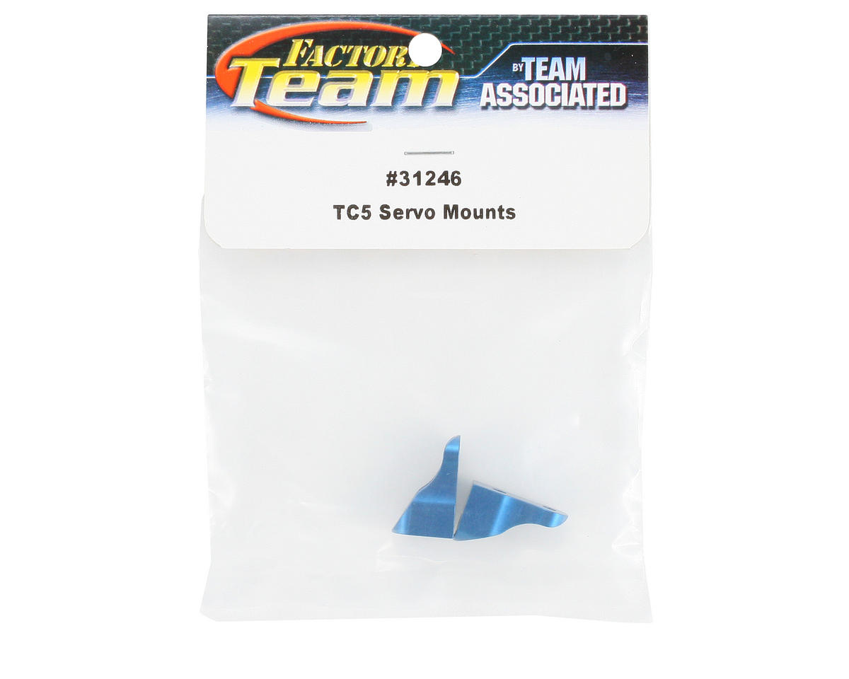 Team Associated Factory Team Servo Mounts (Blue) (2)