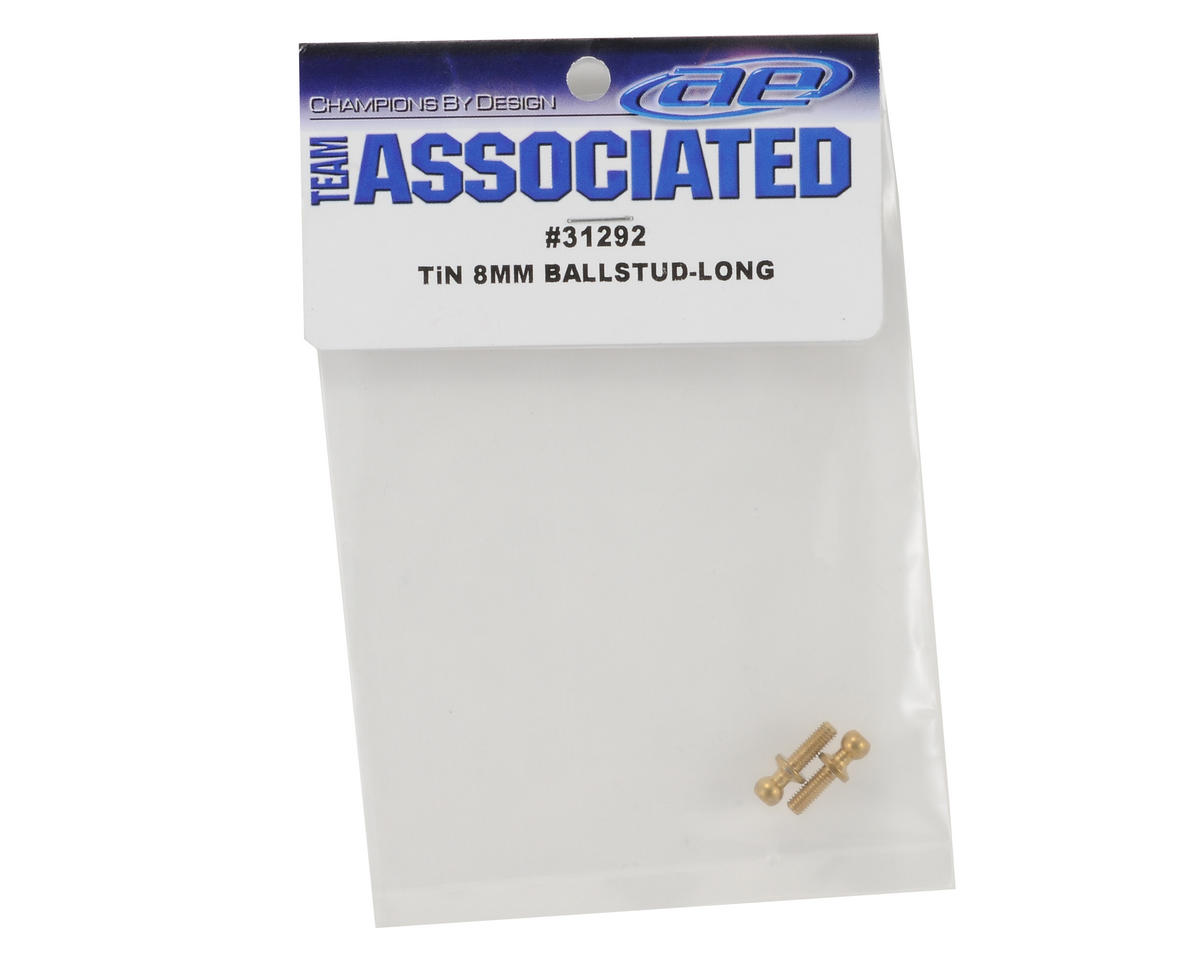 Team Associated 3x8mm Long Ti-Nitride Ball Stud Set (2)
