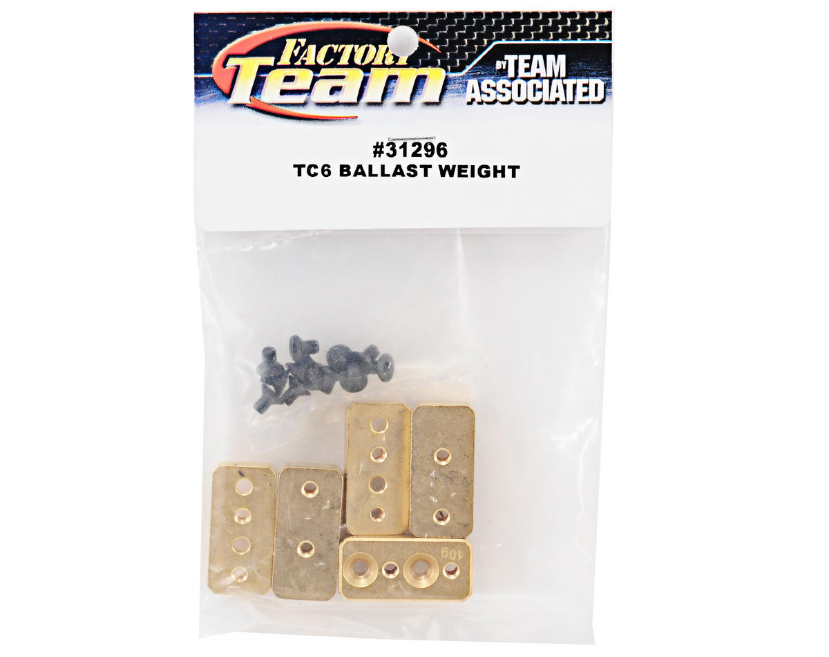 TC6 Ballast Weight Set (6) by Team Associated