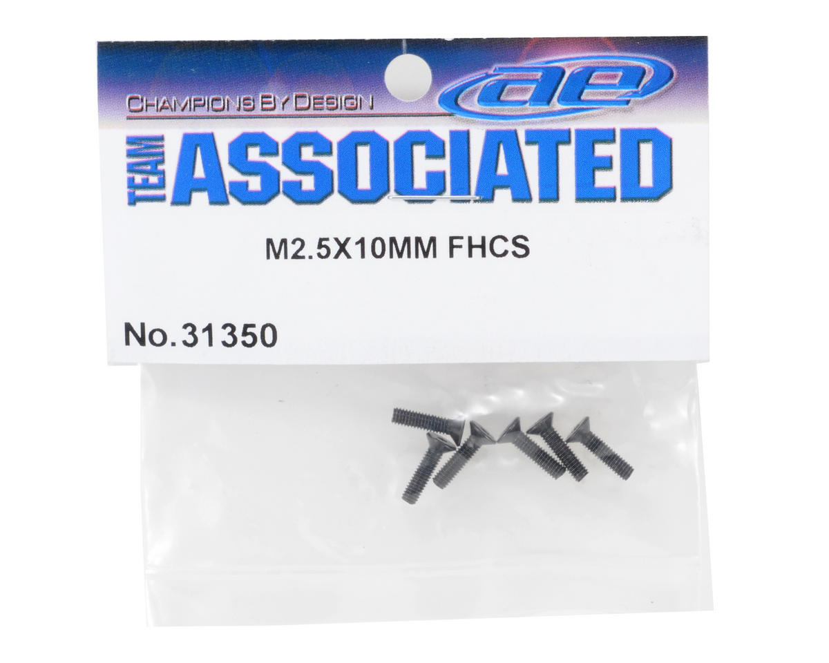 Team Associated 2.5x10mm Flat Head Screw (6)