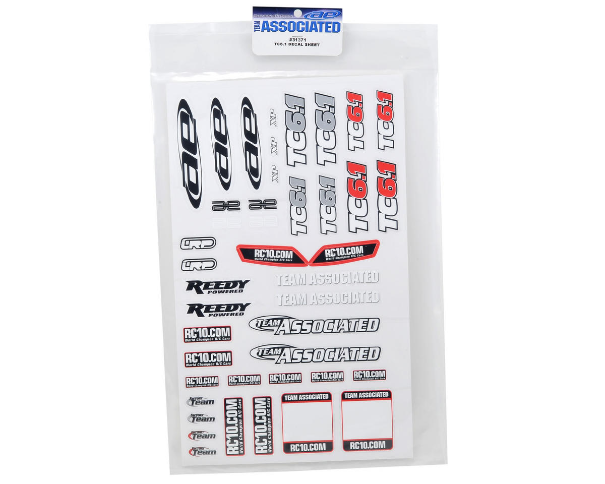 Team Associated TC6.1 Decal Sheet